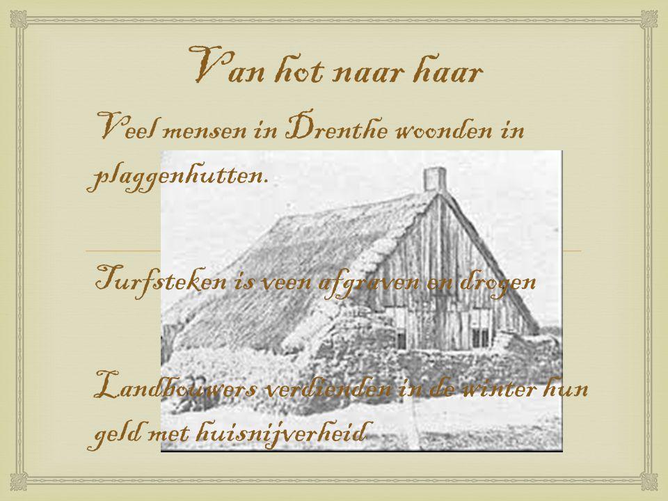 Van hot naar haar Veel mensen in Drenthe woonden in plaggenhutten.