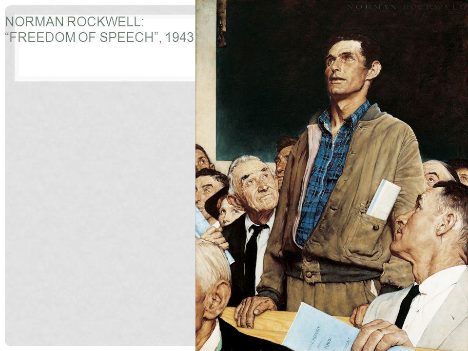 Norman Rockwell: Freedom of Speech , 1943