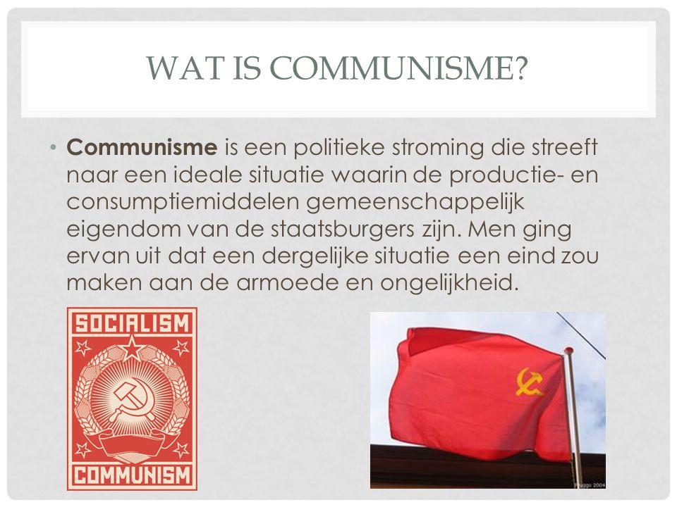 Wat is communisme