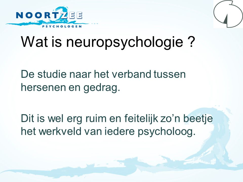 Wat is neuropsychologie