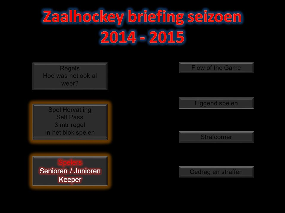 Zaalhockey briefing seizoen 2014 - 2015
