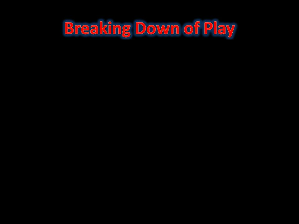 Breaking Down of Play
