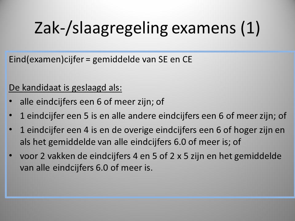 Zak-/slaagregeling examens (1)