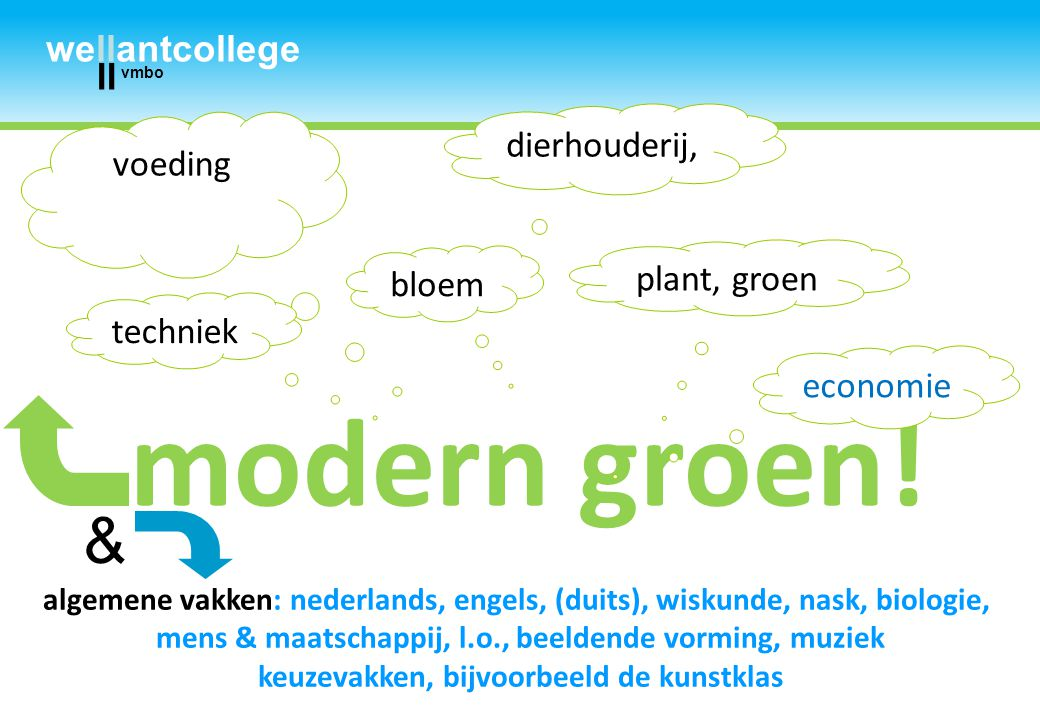 modern groen! & wellantcollege ll dierhouderij, voeding plant, groen