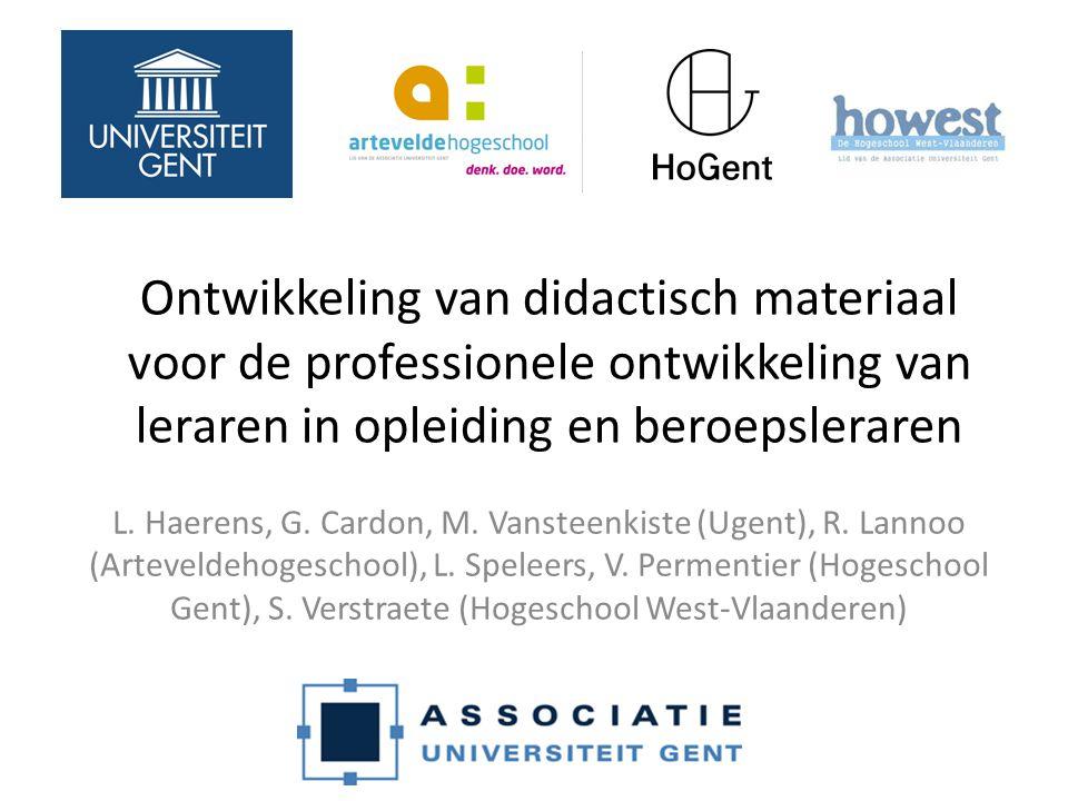 Ontwikkeling van didactisch materiaal voor de professionele ontwikkeling van leraren in opleiding en beroepsleraren