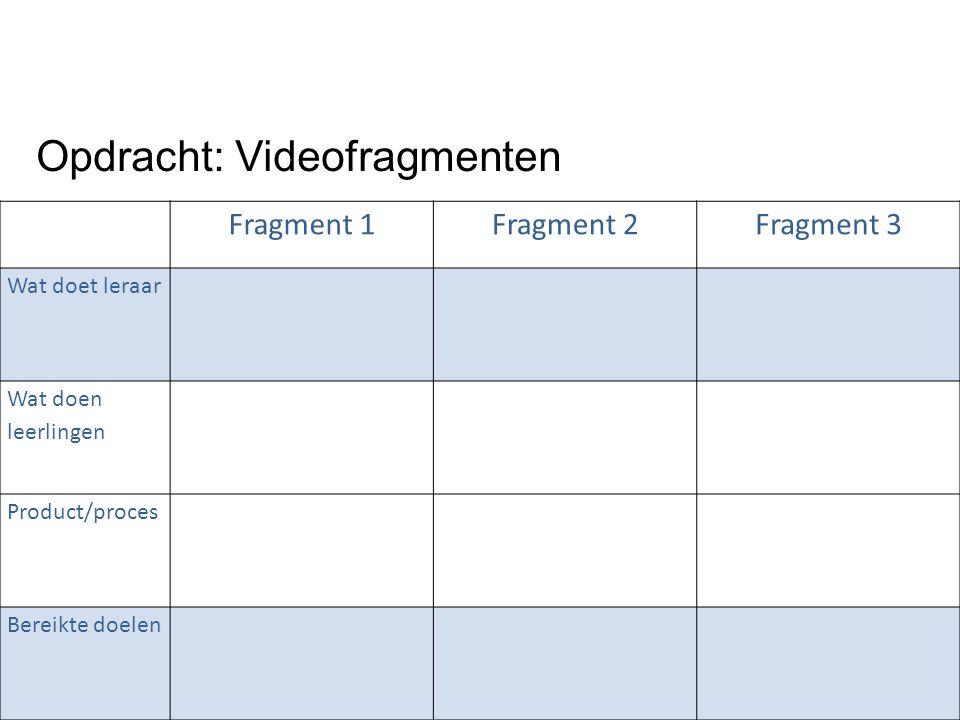 Opdracht: Videofragmenten