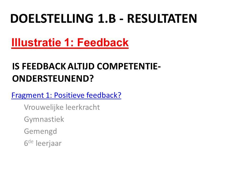 Is feedback altijd competentie-ondersteunend