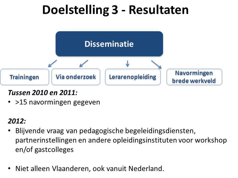 Doelstelling 3 - Resultaten Navormingen brede werkveld