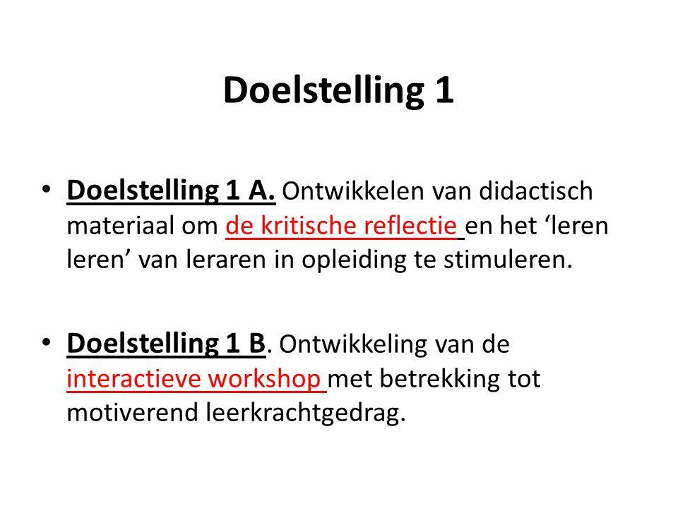 Doelstelling 1