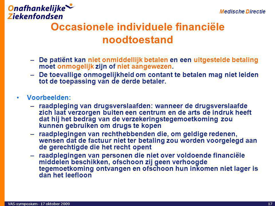 Occasionele individuele financiële noodtoestand