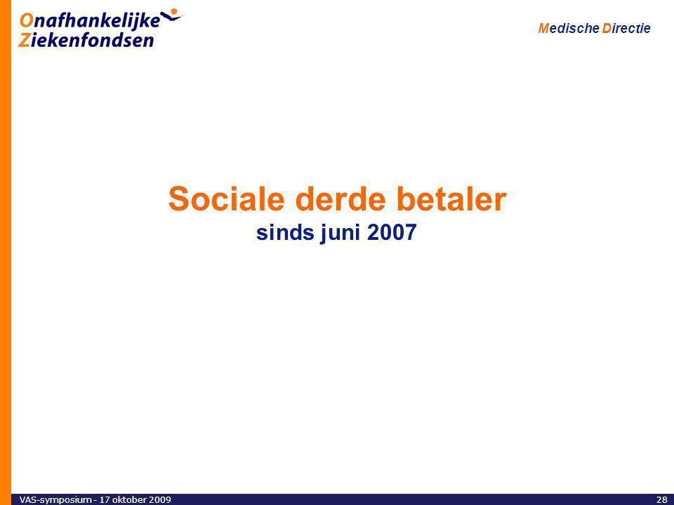 Sociale derde betaler sinds juni 2007