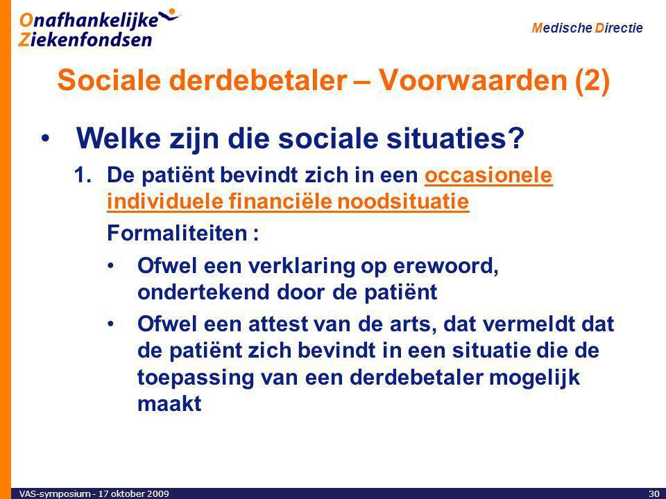 Sociale derdebetaler – Voorwaarden (2)