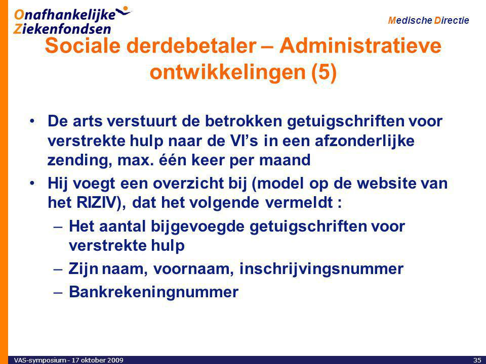 Sociale derdebetaler – Administratieve ontwikkelingen (5)