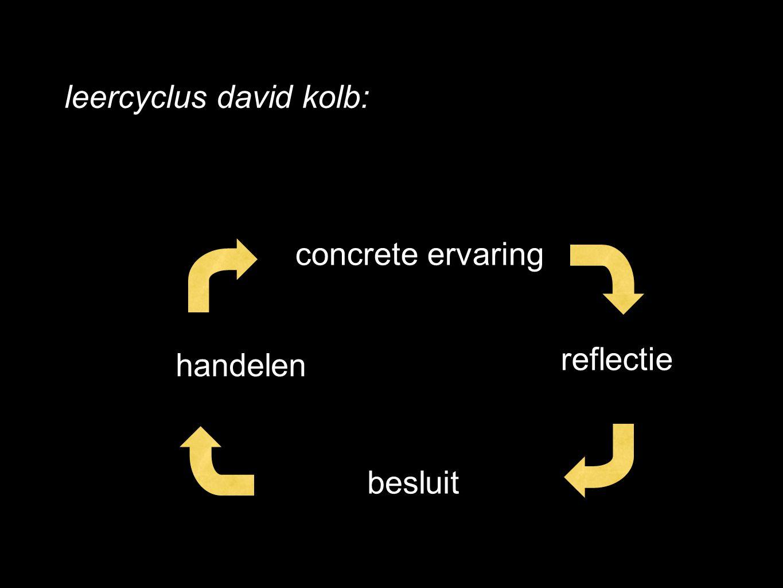leercyclus david kolb: