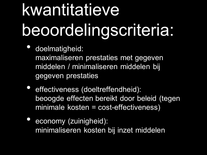 kwantitatieve beoordelingscriteria: