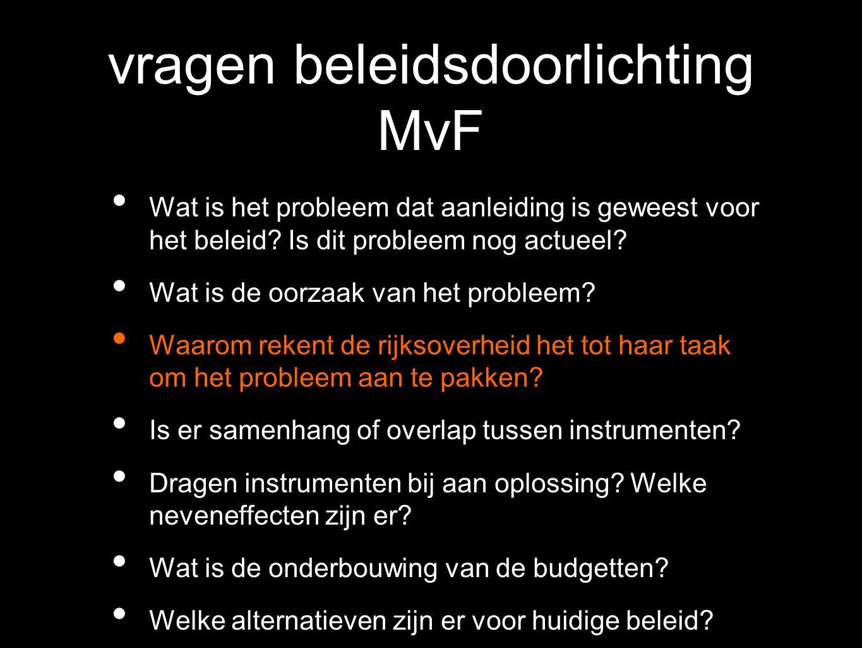 vragen beleidsdoorlichting MvF