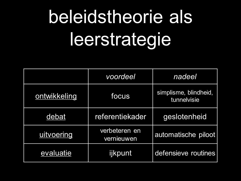 beleidstheorie als leerstrategie