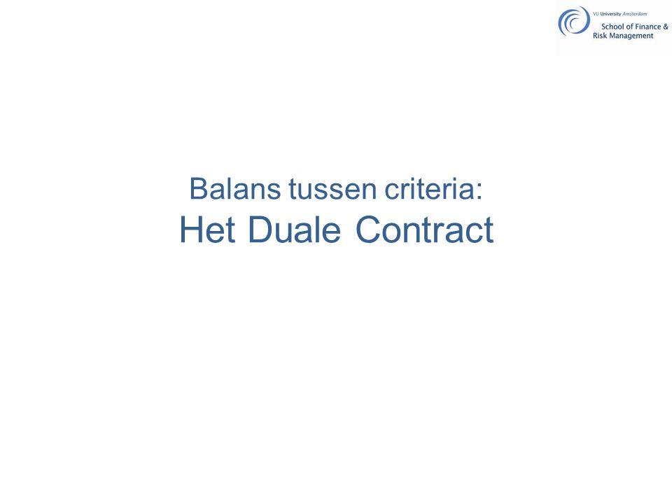 Balans tussen criteria: Het Duale Contract