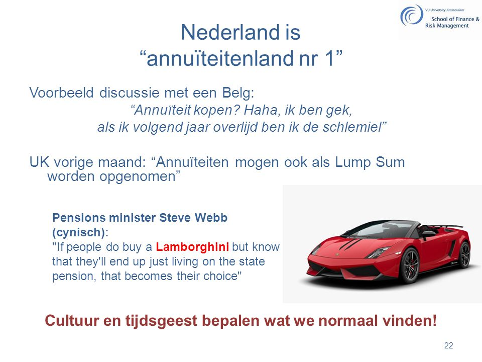 Nederland is annuïteitenland nr 1