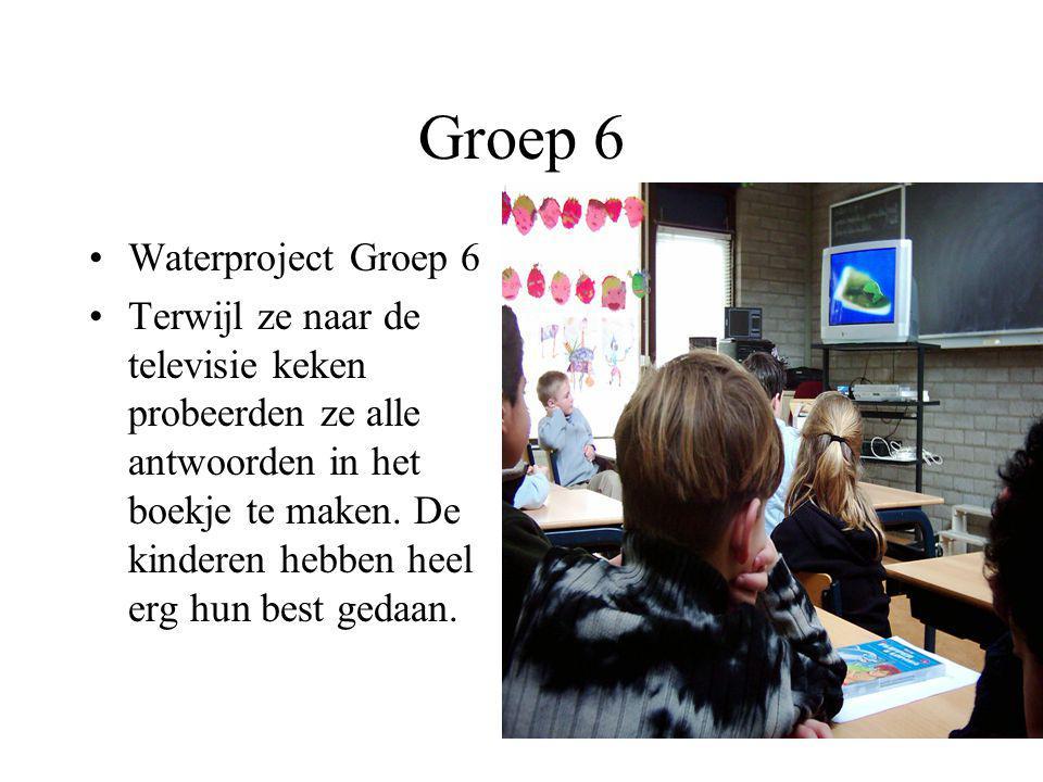 Groep 6 Waterproject Groep 6
