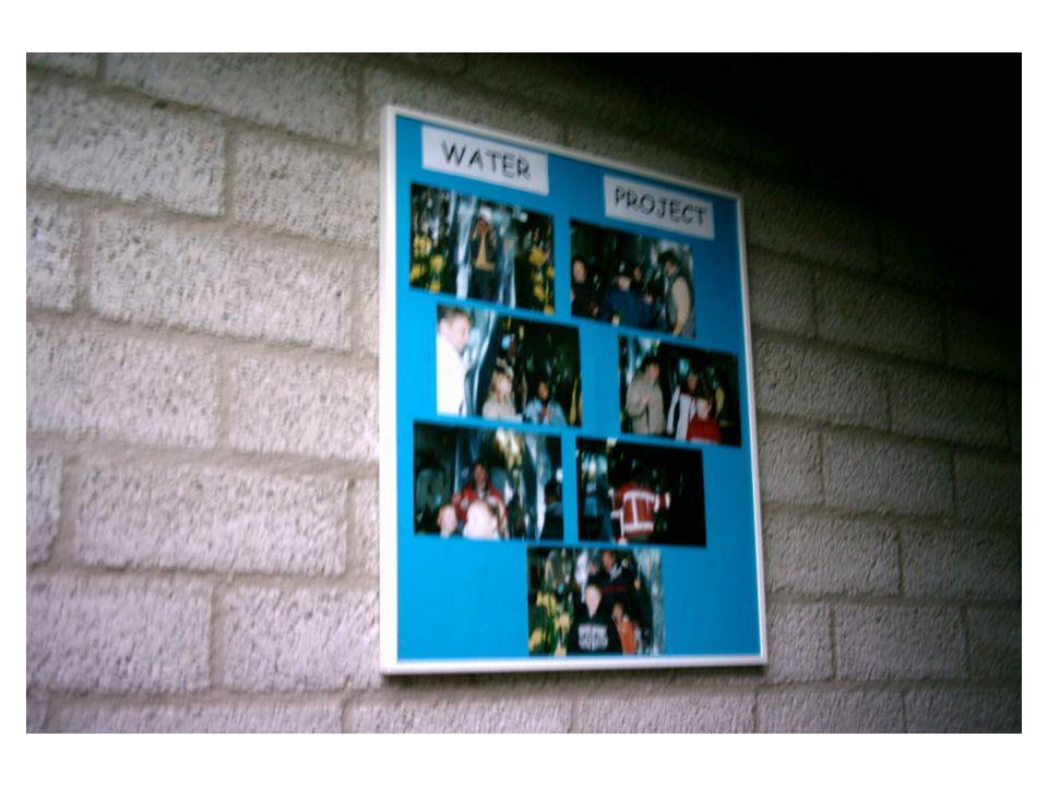 Afsluiting Het waterproject is nog niet helemaal afgesloten.