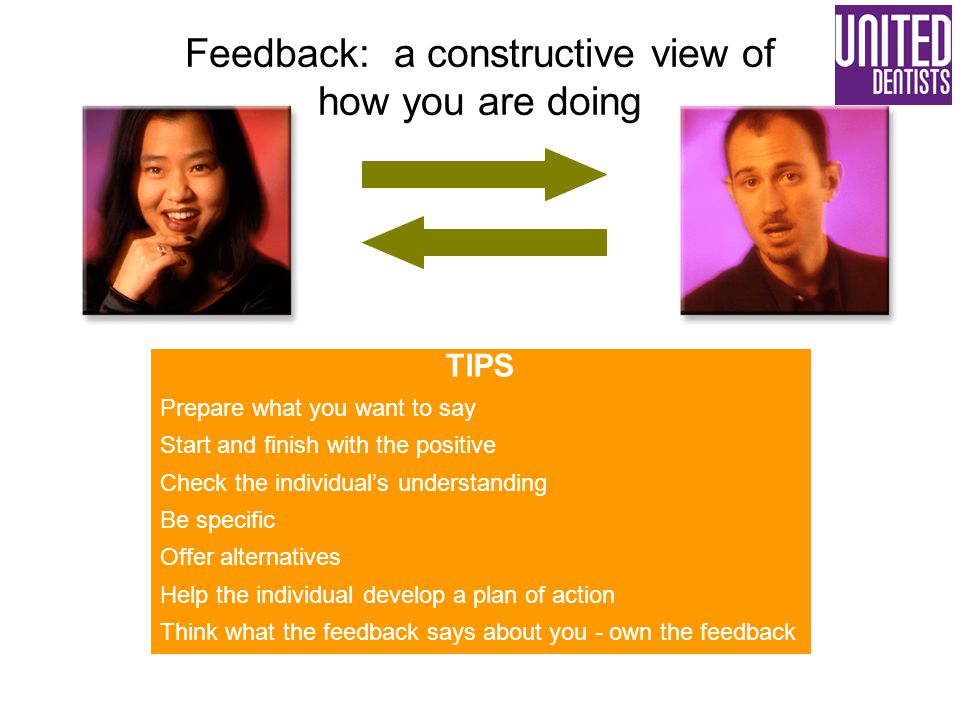 Feedback: a constructive view of how you are doing