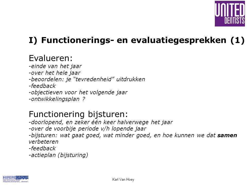 Functionerings- en evaluatiegesprekken (1) Evalueren: