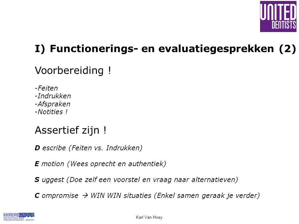 Functionerings- en evaluatiegesprekken (2) Voorbereiding !