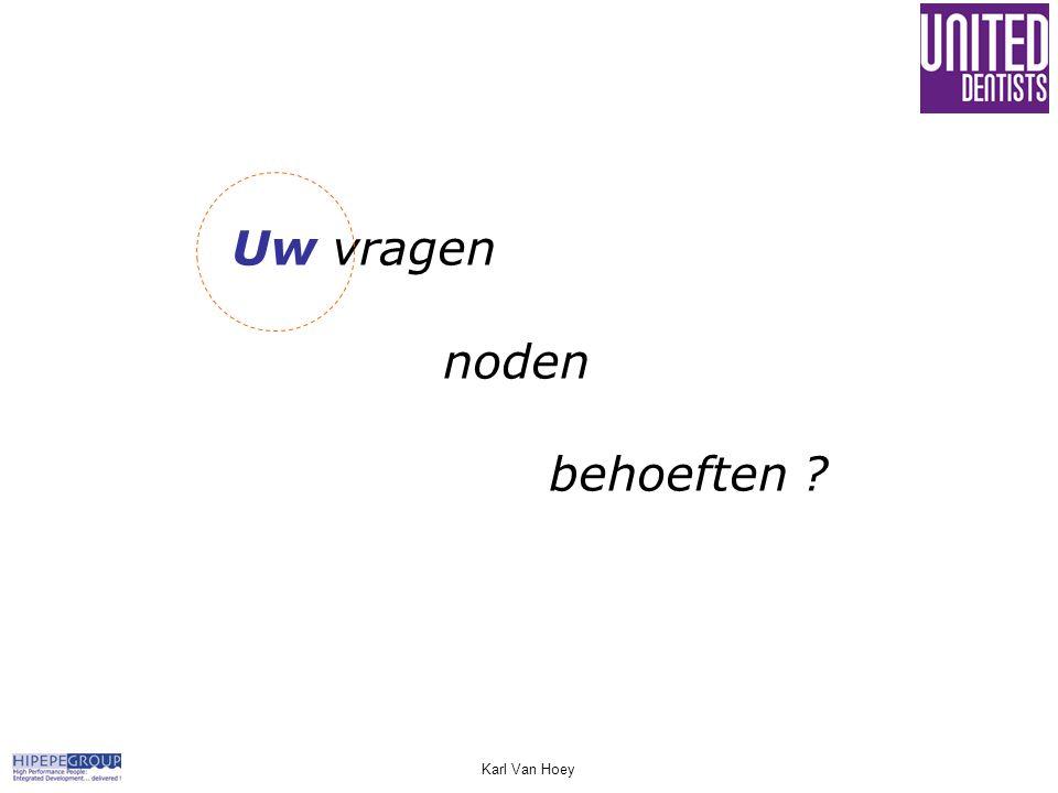 Uw vragen noden behoeften Karl Van Hoey