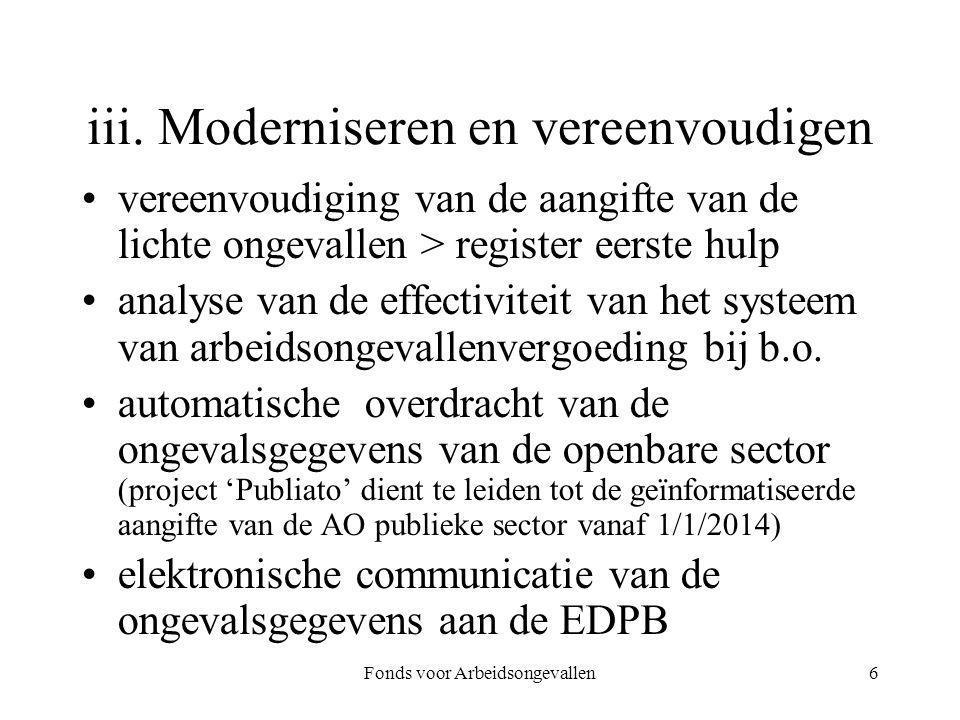 iii. Moderniseren en vereenvoudigen