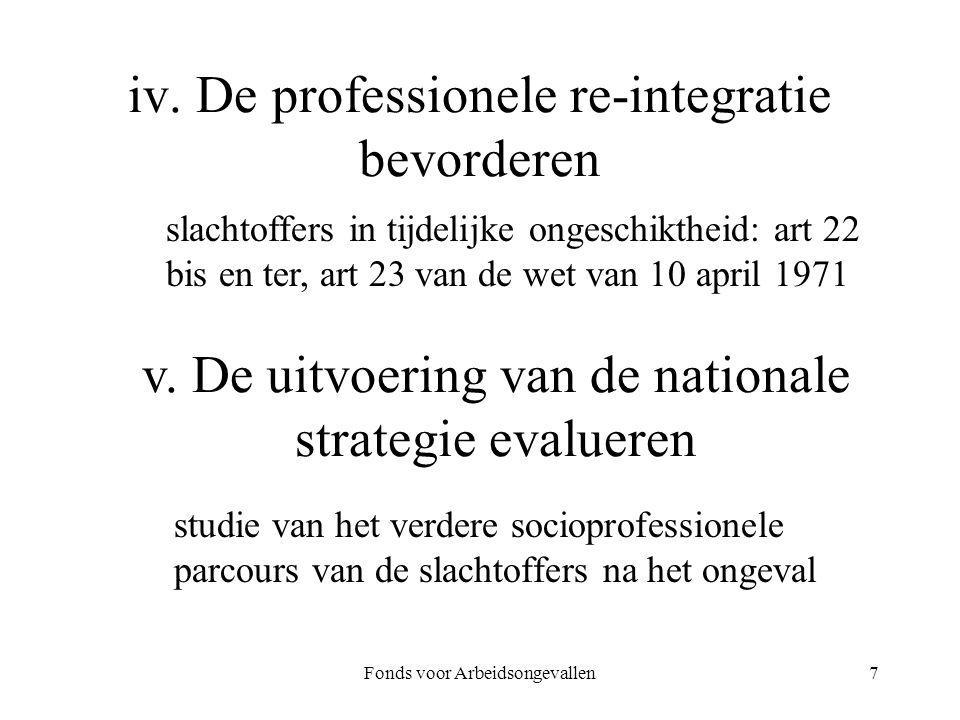 iv. De professionele re-integratie bevorderen