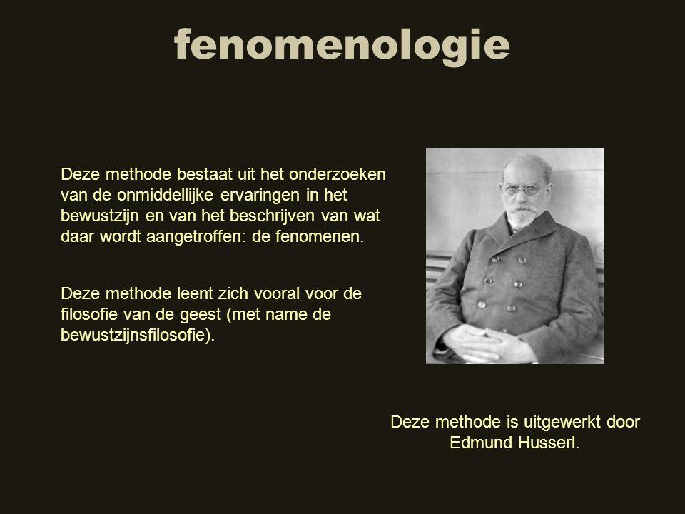 Deze methode is uitgewerkt door Edmund Husserl.