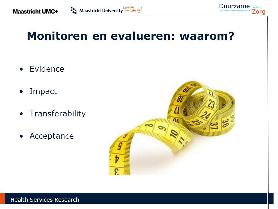 Monitoren en evalueren: waarom