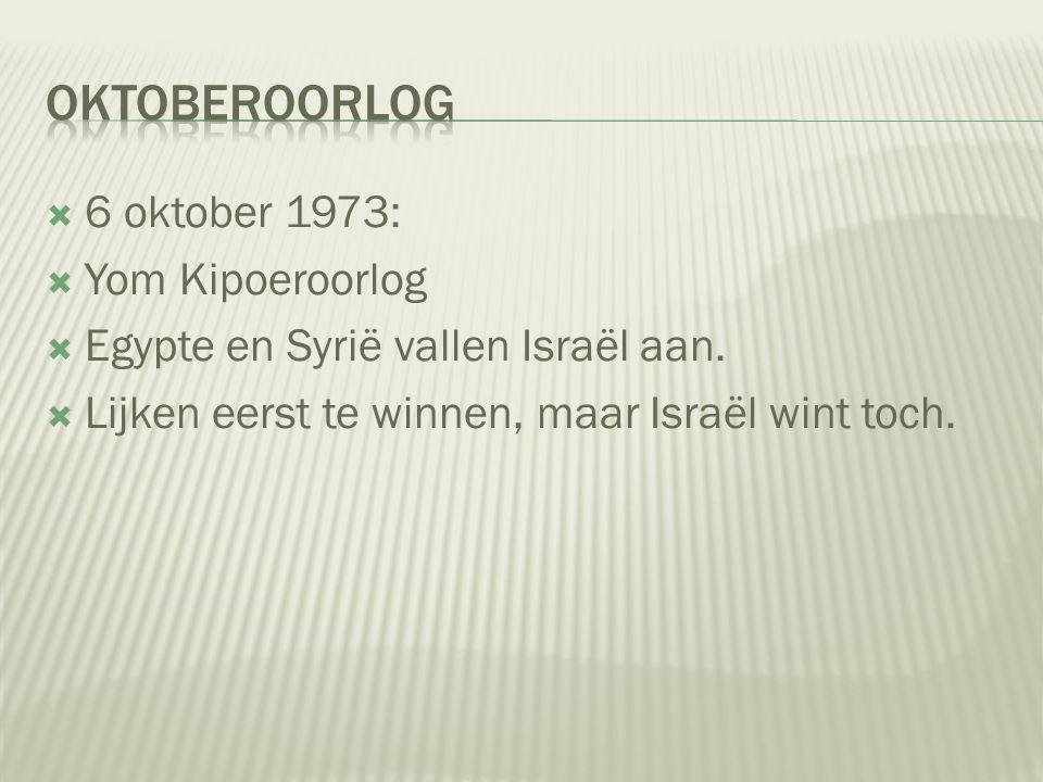 Oktoberoorlog 6 oktober 1973: Yom Kipoeroorlog