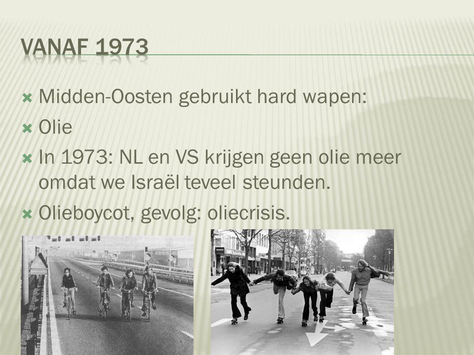 Vanaf 1973 Midden-Oosten gebruikt hard wapen: Olie