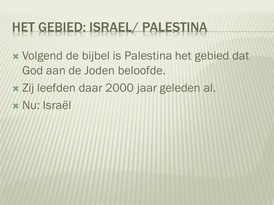 Het gebied: Israel/ Palestina