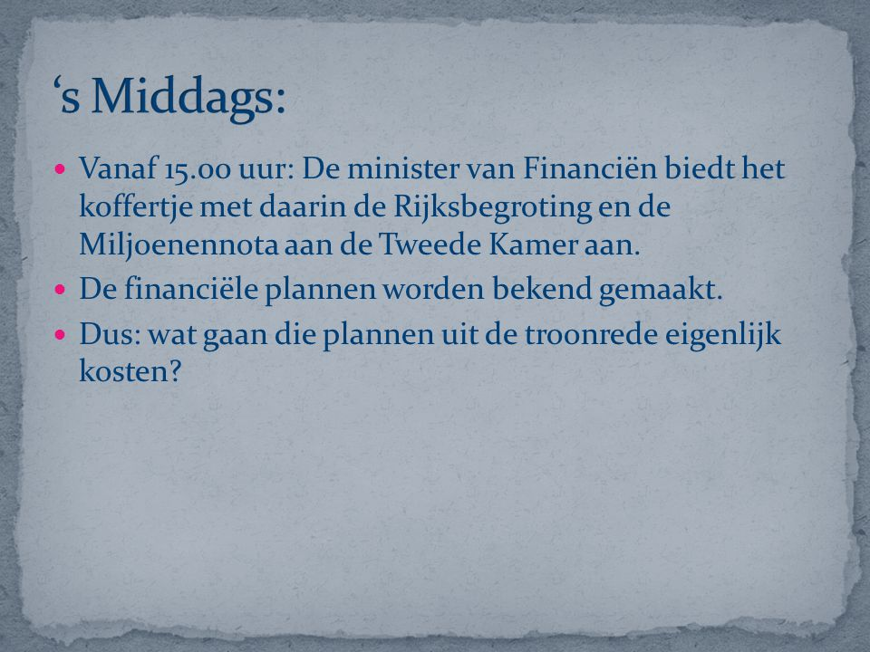 's Middags: