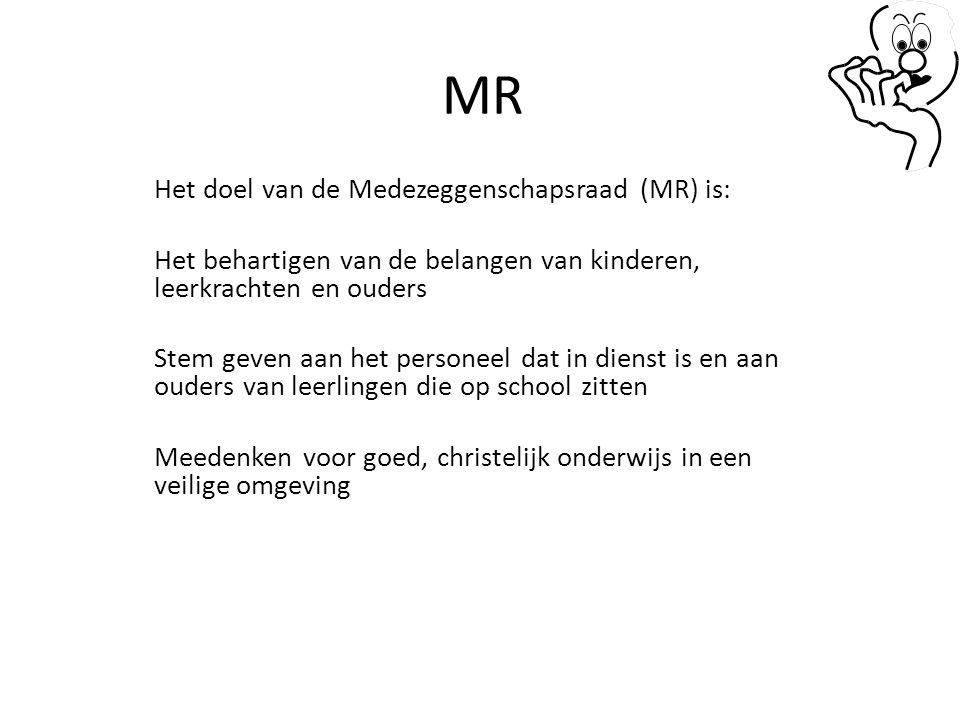 MR Het doel van de Medezeggenschapsraad (MR) is: