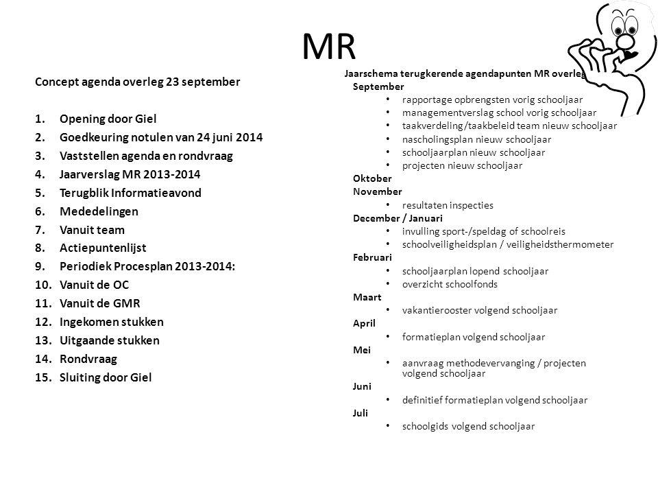 MR Concept agenda overleg 23 september 1. Opening door Giel