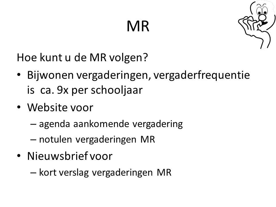 MR Hoe kunt u de MR volgen