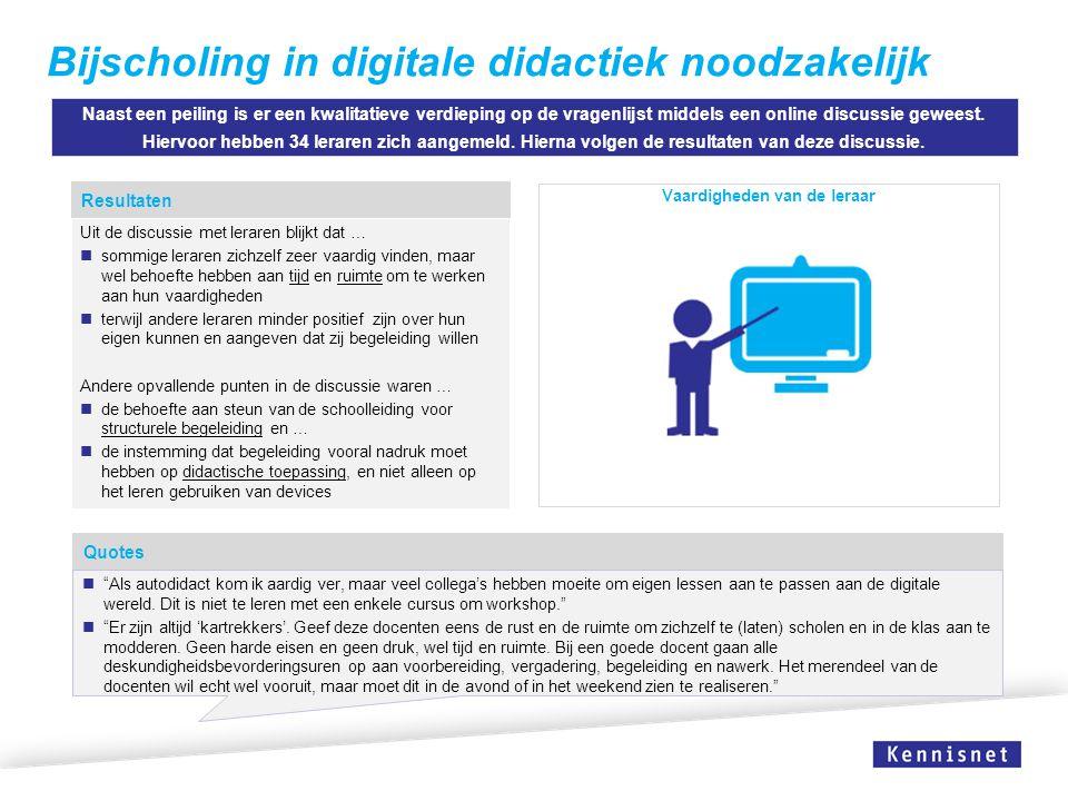 Bijscholing in digitale didactiek noodzakelijk