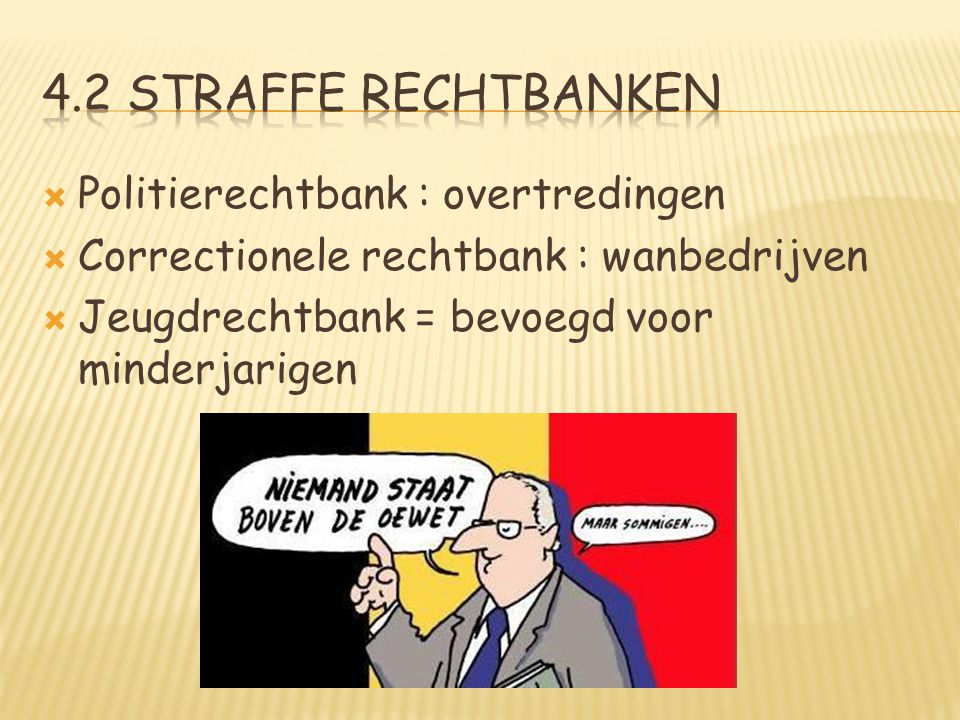 4.2 straffe rechtbanken Politierechtbank : overtredingen