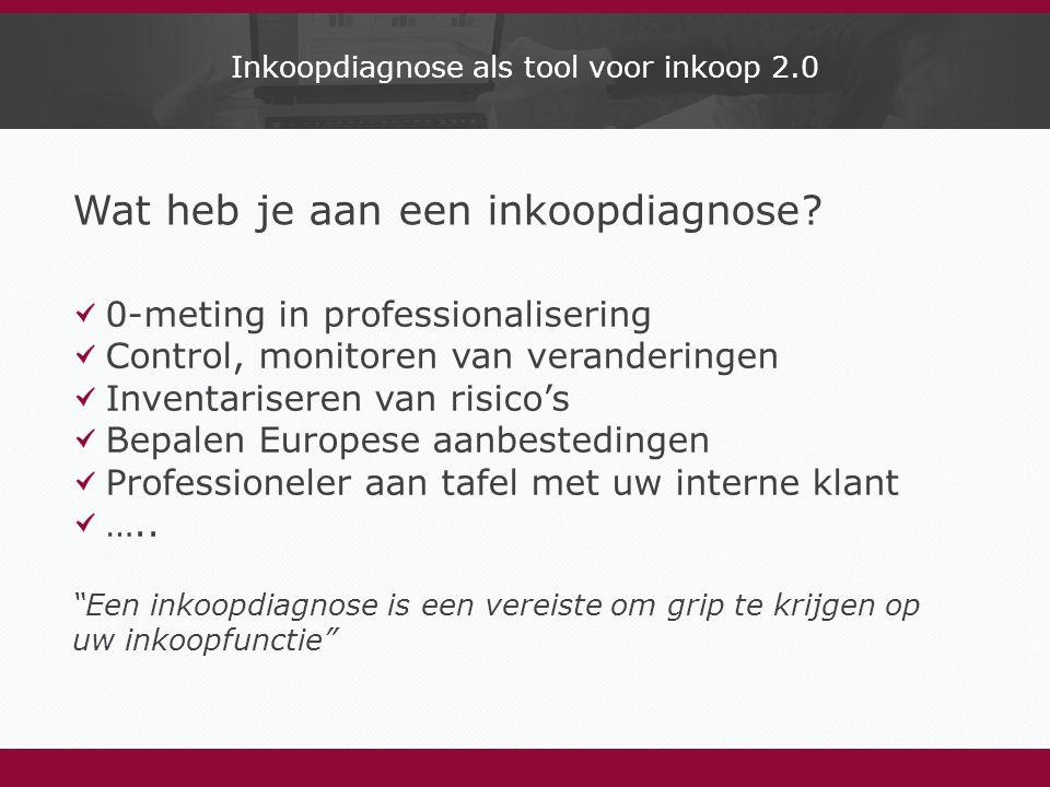 Inkoopdiagnose als tool voor inkoop 2.0