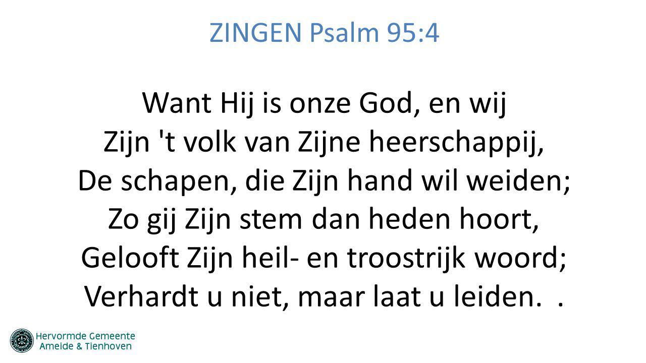 ZINGEN Psalm 95:4