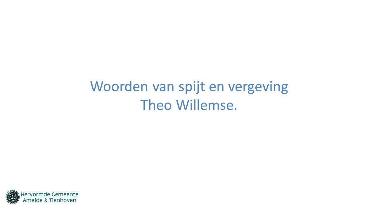 Woorden van spijt en vergeving Theo Willemse.
