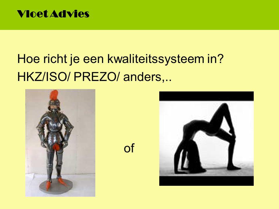 Hoe richt je een kwaliteitssysteem in HKZ/ISO/ PREZO/ anders,..