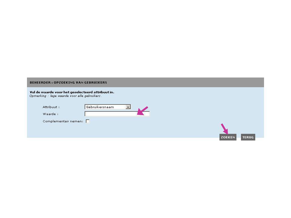 In dit voorbeeld zullen we een opzoeking doen op basis van de gebruikersnaam.