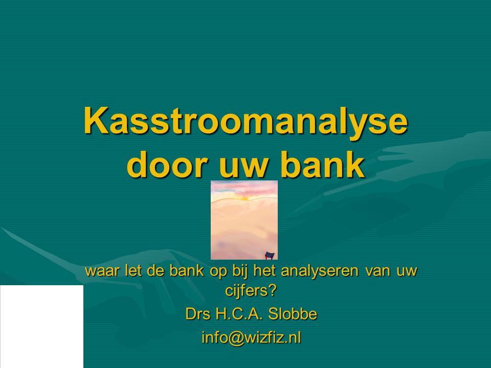 Kasstroomanalyse door uw bank