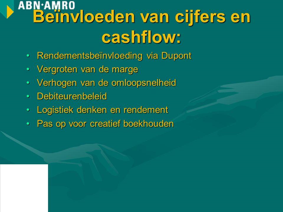 Beïnvloeden van cijfers en cashflow: