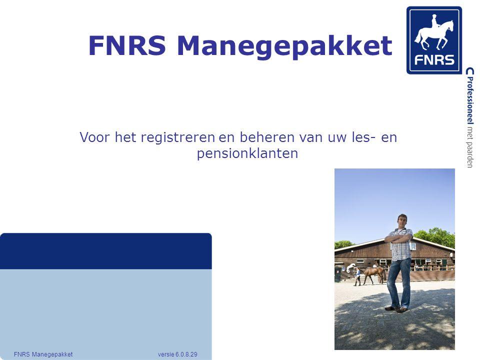 Voor het registreren en beheren van uw les- en pensionklanten